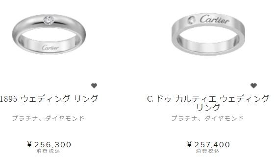 カルティエの指輪料金