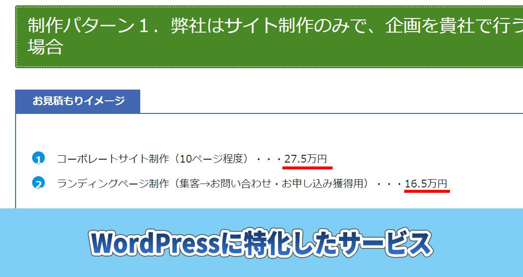 株式会社ウェブロードのホームページ作成代行料金相場