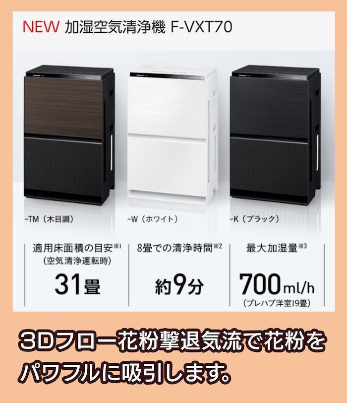 Panasonic F-VXT70の料金相場