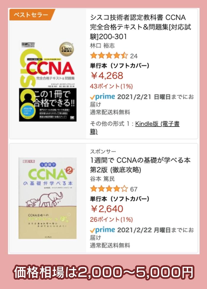 Amazonで購入できるCCNA参考書
