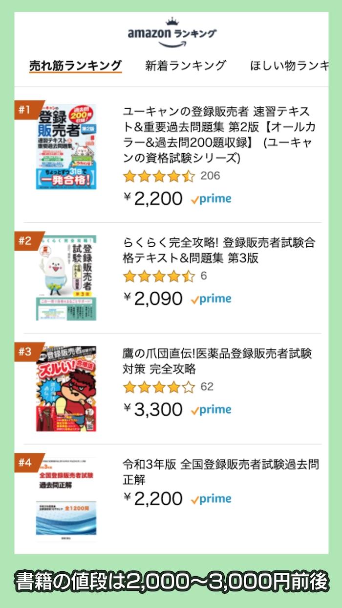 登録販売者関連書籍の売れ筋ランキング