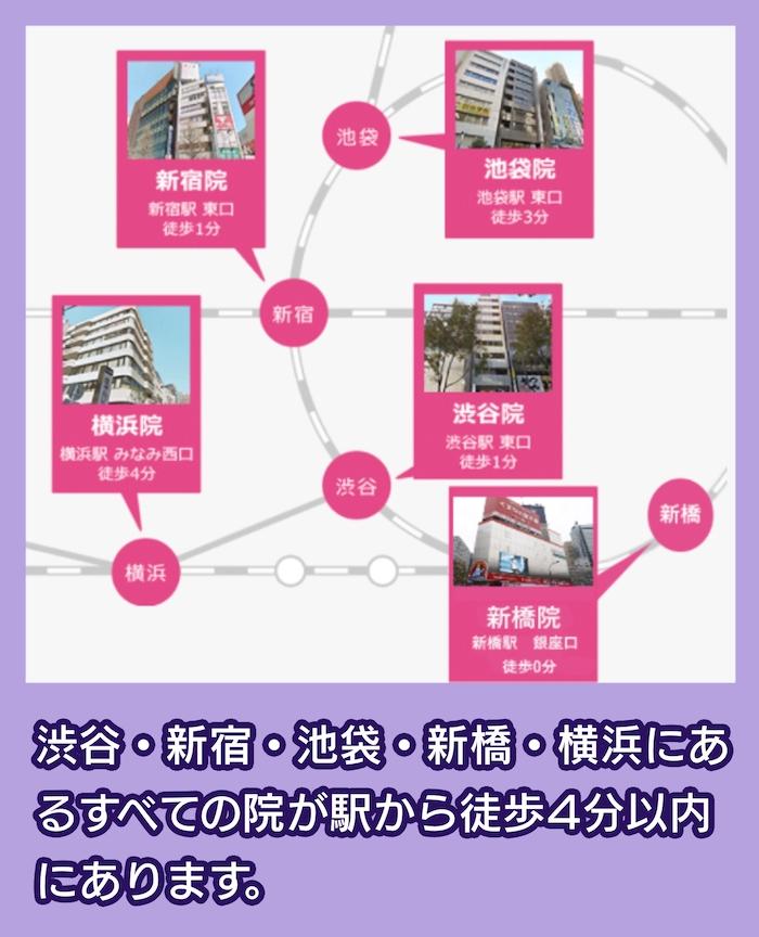 渋谷美容外科の場所