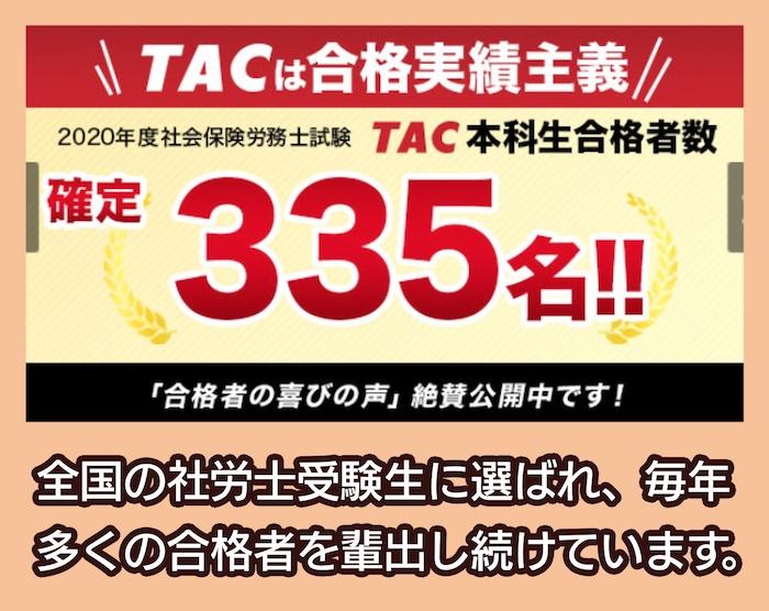 TACの合格実績