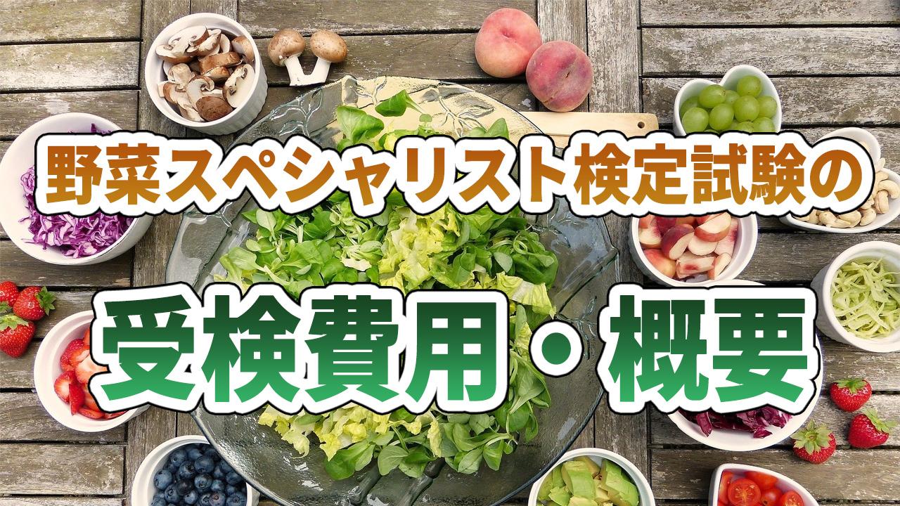 野菜スペシャリスト検定試験の受験費用・概要