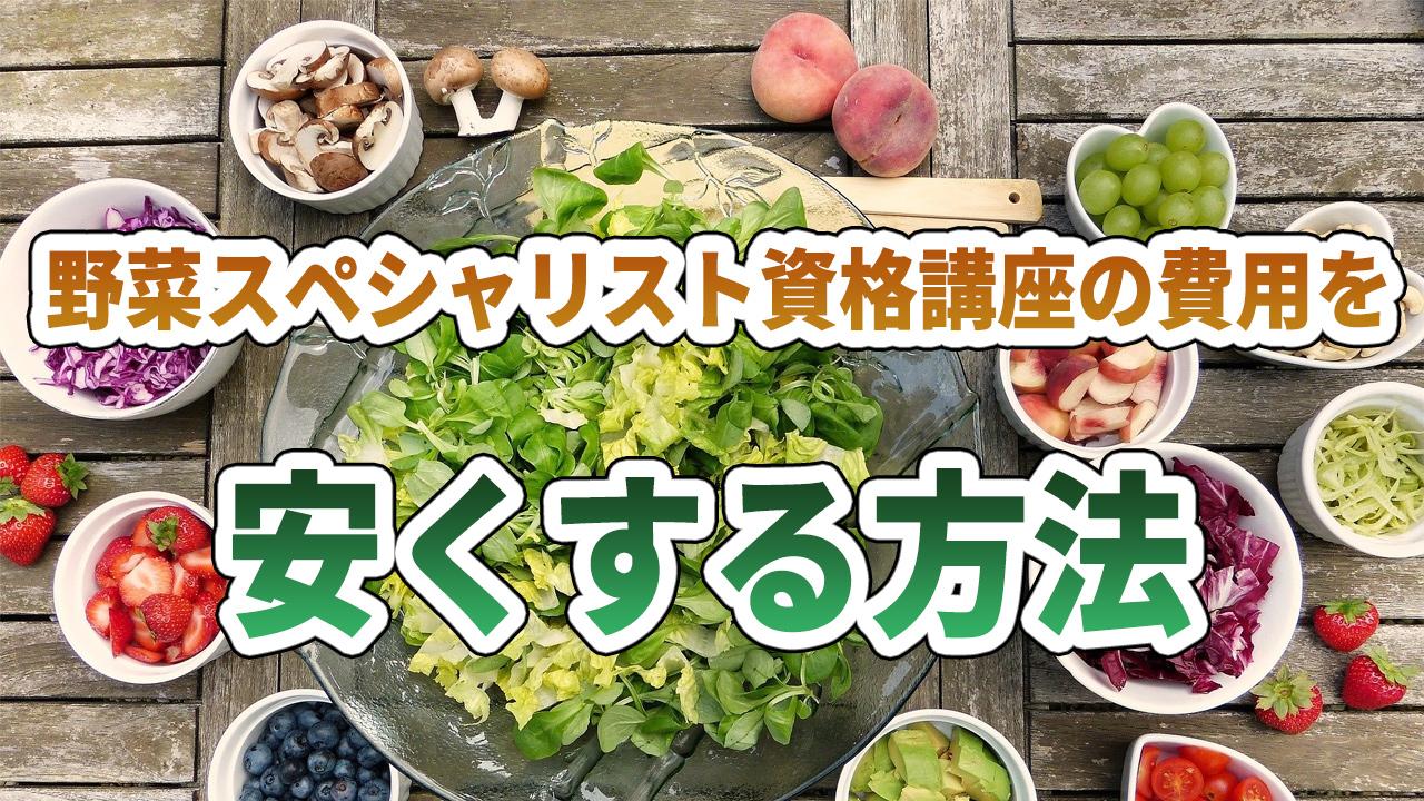 野菜スペシャリスト資格講座を安くする方法
