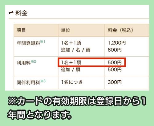 新横浜公園ドッグランの料金相場