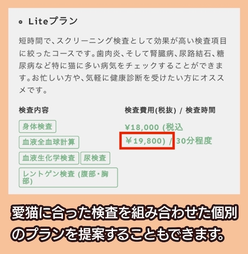 Tokyo Cat Specialistsの料金相場